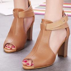 Giày cao gót hàng nhập hở mũi chân - 107