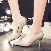 Giày cao gót kim tuyến hàng nhập cao cấp - LN334