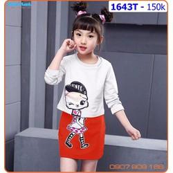 Sét áo váy tay dài cực xinh xắn cho bé