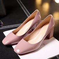 Giày cao gót mũi vuông cao cấp - LN342