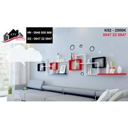 Kệ gỗ treo tường sofa phòng khách đẹp K52
