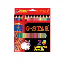 Hộp bút chì màu chuốt hiệu G Star 24 cây