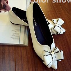 Giày búp bê mũi nhọn đính nơ cho bạn gái thêm duyên dáng-143