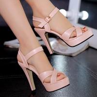 Giày cao gót dây chéo xinh xắn - 134
