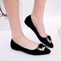 Giày búp bê khóa vuông thời trang - LN340