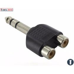 Jack gộp audio 2 RCA thành 6.5 mm Stereo