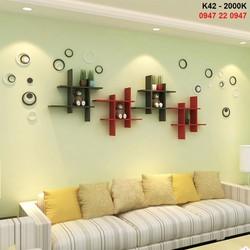 Kệ gỗ treo tường phòng khách giá rẻ K42