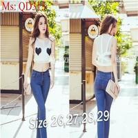 Quần jean nữ lưng cao dài ống ôm xinh đẹp duyên dáng QD315