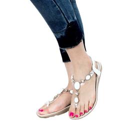 Giày Dép Bệt Sandal Nữ Xỏ Ngón Đính Đá