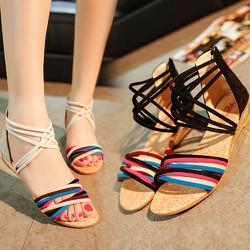 Giày sandal nữ kiểu dây nhiều màu trẻ trung-137