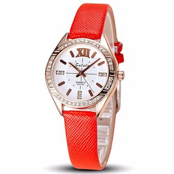Đồng hồ nữ thời trang màu đỏ style cực xinh cực đẹp - 165