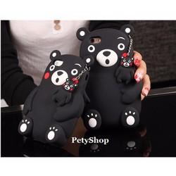 Ốp gấu đen 3D iPhone 5 5S SE iPhone 6 6S iPhone 6 Plus 6S Plus