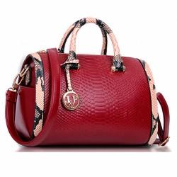 Túi xách nữ da rắn sành điệu màu đỏ quyến rũ-117