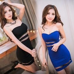 Đầm sexy cúp ngực tôn vinh bờ vai trần và vòng eo xinh đẹp-167