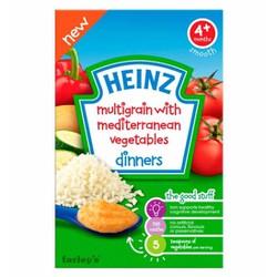 Bột ăn dặm Heinz gạo và rau củ hỗn hợp,cho bé 4 tháng