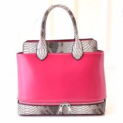 Túi xách thời trang Hàn Quốc viền da rắn bạc sành điệu sang chảnh-118