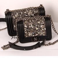Túi xách Chanel đính đá nhân tạo sang trọng-119