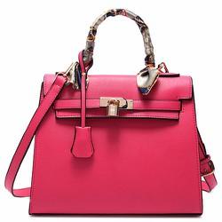 Túi xách tay kelly.Kiểu khóa túi lạ.đẹp mắt.màu hồng phong cách-197