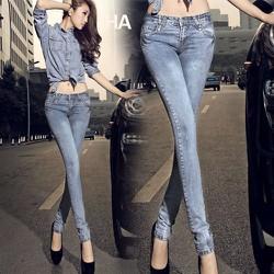quần Jean dài xanh thép form ôm sành điệu cho cô nàng kiêu kỳ - 111