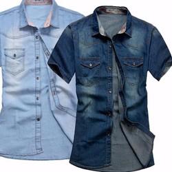 Áo jean phong cách bụi bặm cho bạn nam cá tính - 108