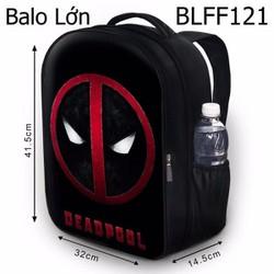 Balo Teen - Học sinh Logo Deadpool HOT - VBLFF121