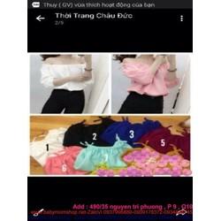 Áo kiểu bẹt vai dài tay sành điệu có đủ màu cho bạn chọn ABV21