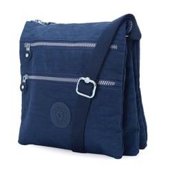 Túi đeo chéo Kipling 3 đáy màu xanh đen