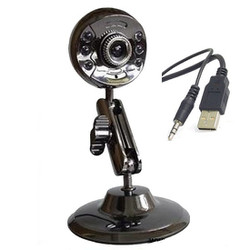 Webcam hình Bán Nguyệt cao cấp có Mic hỗ trợ 6 Đèn Led