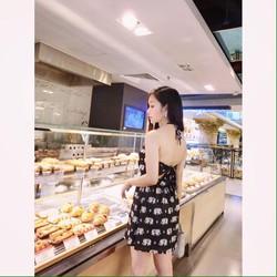 Đầm suông cổ yếm họa tiết cực xinh BYL125