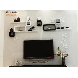 Kệ gỗ treo tường tivi phòng khách đẹp T81
