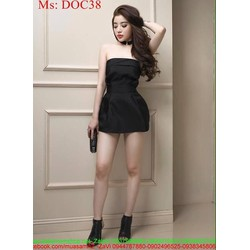 Đầm ống cúp ngực ôm body màu đen sang trọng xinh đẹp DOC38