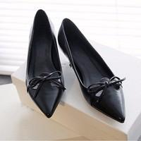 Giày gót thấp tết nơ xinh xắn - LN351