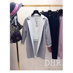 Áo khoác da lộn phong cách Hàn Quốc
