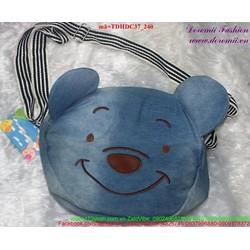 View  Túi đeo đi học đi chơi gấu pooh đáng iu dễ thương TDHDC37