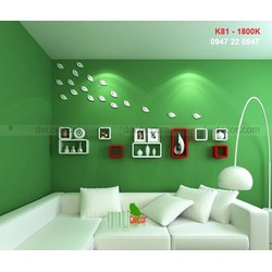 Kệ gỗ treo tường phòng khách phong cách K81