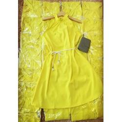 Đầm suông vàng cổ yếm kèm dây cực đẹp