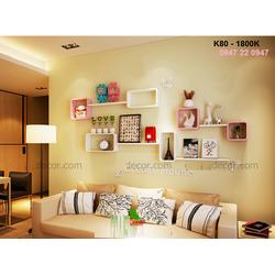 Kệ gỗ treo tường phòng khách giá rẻ HCM K80