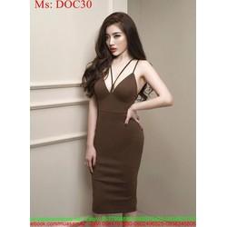 Đầm ôm dự tiệc 2 dây sexy và xinh đẹp DOC30