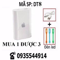 Combo Pin sạc dự phòng Apple + dây cáp + đèn Led DT8