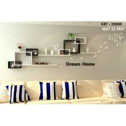 Kệ gỗ treo tường phòng khách đẹp K87