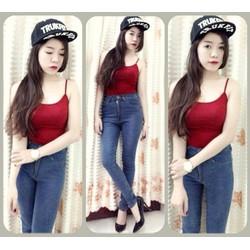 HÀNG NHẬP CAO CẤP - Quần jean lưng cao was nhẹ