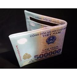 Bóp Ví Tiền 500k Da Xịn Nhiều Ngăn