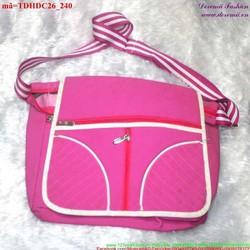 Túi đeo đi học đi chơi sắc hồng nữ tính đáng iu TDHDC26