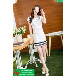 Đầm suông body viền họa tiết cực xinh - AV3315
