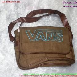 Túi đeo đi học đi chơi vải nhung Vans cực iu TDHDC33