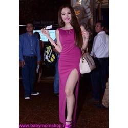 Đầm dạ hội hồng xẻ đùi quyến rũ xinh đẹp DDH147