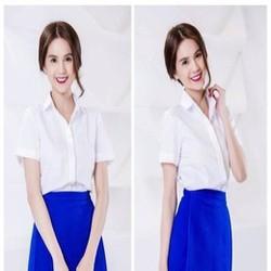 Sét áo sơ mi trắng và chân váy xòe xinh đẹp trẻ trung SEV322