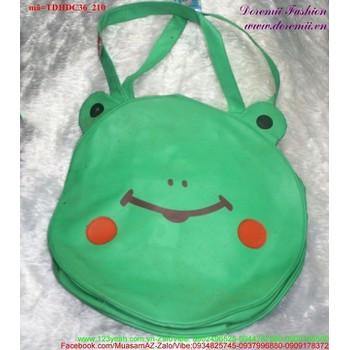 Túi đeo đi học đi chơi chú ếch xanh đáng iu nghộ nghĩnh TDHDC36