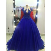 áo cưới xanh bích lưới da