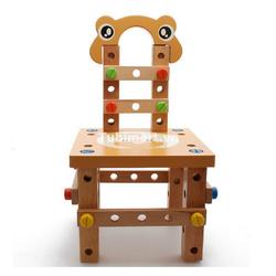 Bộ lắp ghép ghế gỗ đồ chơi